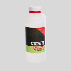 Cure It Acetone Anvendes til rengøring af værktøjer, lækager og som overfladekontaminant
