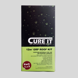Cure It Kit Box contains materials for 12m GRP Roofing Laminate