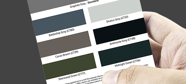Cure It Pre Mixed Topcoat colours for GRP flat roofing System