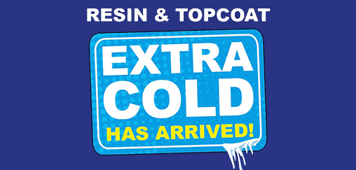 Lay a Cure It flat roof in cold weather with Extra Cold resin and topcoat