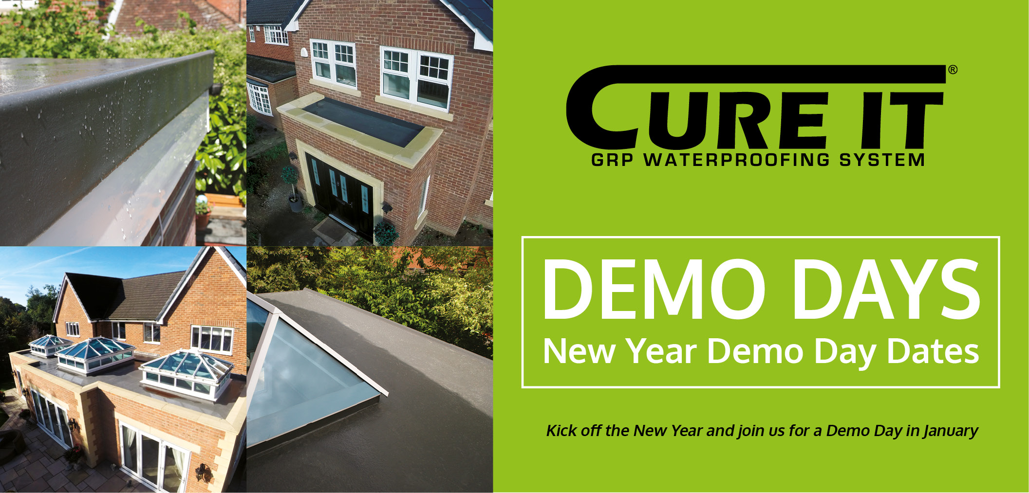 Cure It Demo Day - How to lay a Cure It GRP flat roof